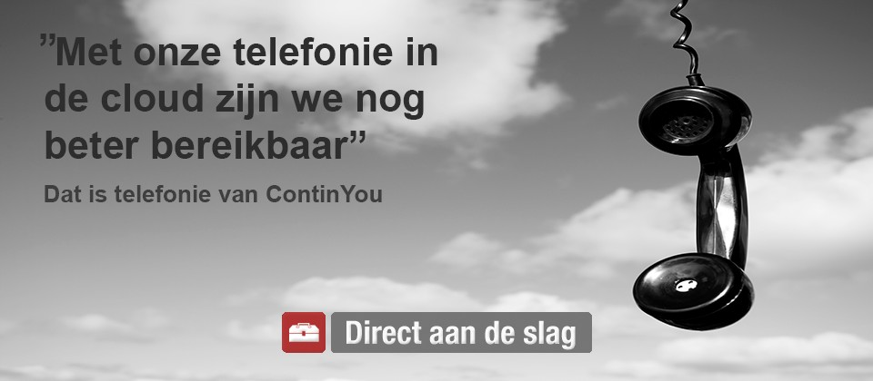 Hosted - telefonie - continyou - Vodafone - Solutions partner - Cloud - Telefonie - one mobile - one - fixed - vast - mobiel - T-Mobile - zakelijk - internet